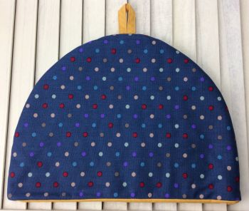 Tea Cosy - Polka Dot (Yellow Lining)