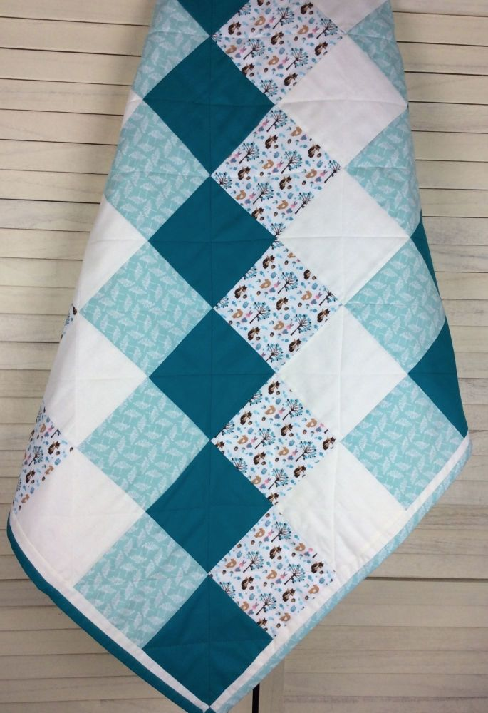 Baby Quilt - Fabric Freedom - Woodland Collection