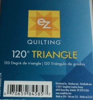 EZ Simplicity Quilting 120° Triangle Template