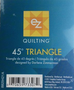 EZ Simplicity Quilting  45° Triangle Template