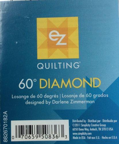 EZ Simplicity Quilting 60° Diamond Template