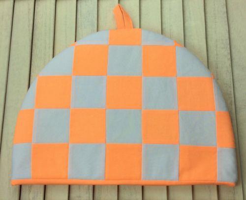 Tea Cosy - Fluorescent Orange and White