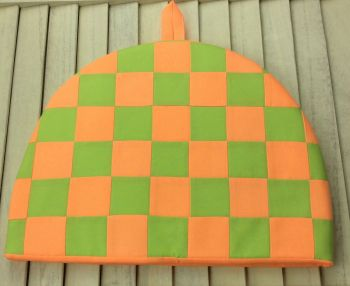 Tea Cosy - Fluorescent Orange and Green