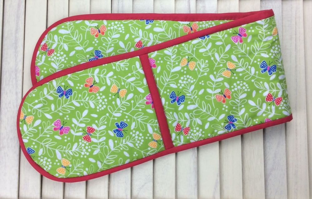 Oven Gloves (Secret Garden - Lime)
