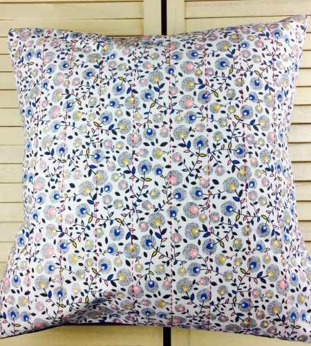 September Blue Hand Quilted Cushion