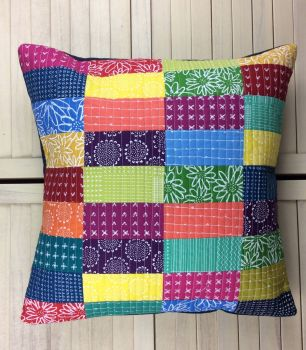 Blueberry Park Bright Spectrum Cushion (A)