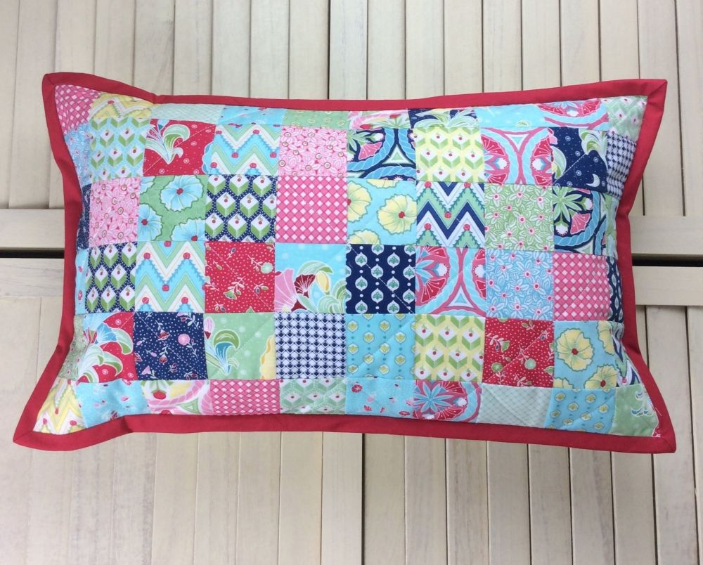 Colour Burst Scrappy Cushion