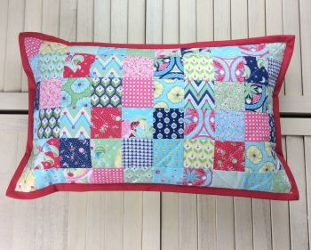 Colour Burst Scrappy Cushion (Squares)
