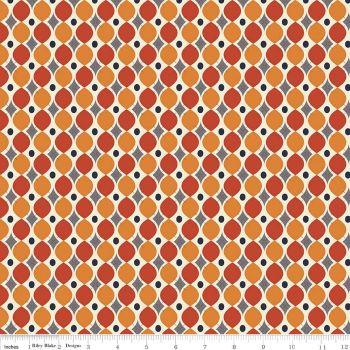 Riley Blake - Keep on Groovin - Wallpaper Orange