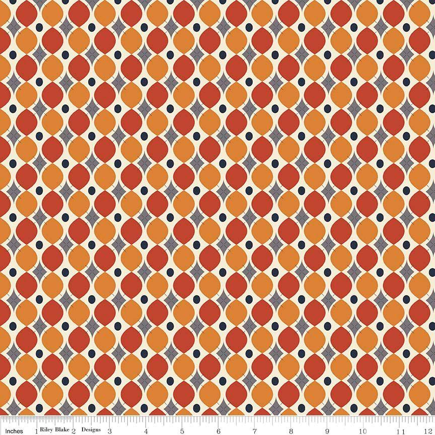 Riley Blake - Keep on Groovin- Wallpaper Orange