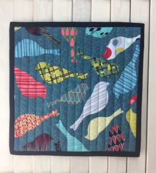 Mid Mod Bird Teal Place Mat