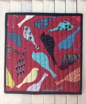 Mid Mod Bird Red Place Mat