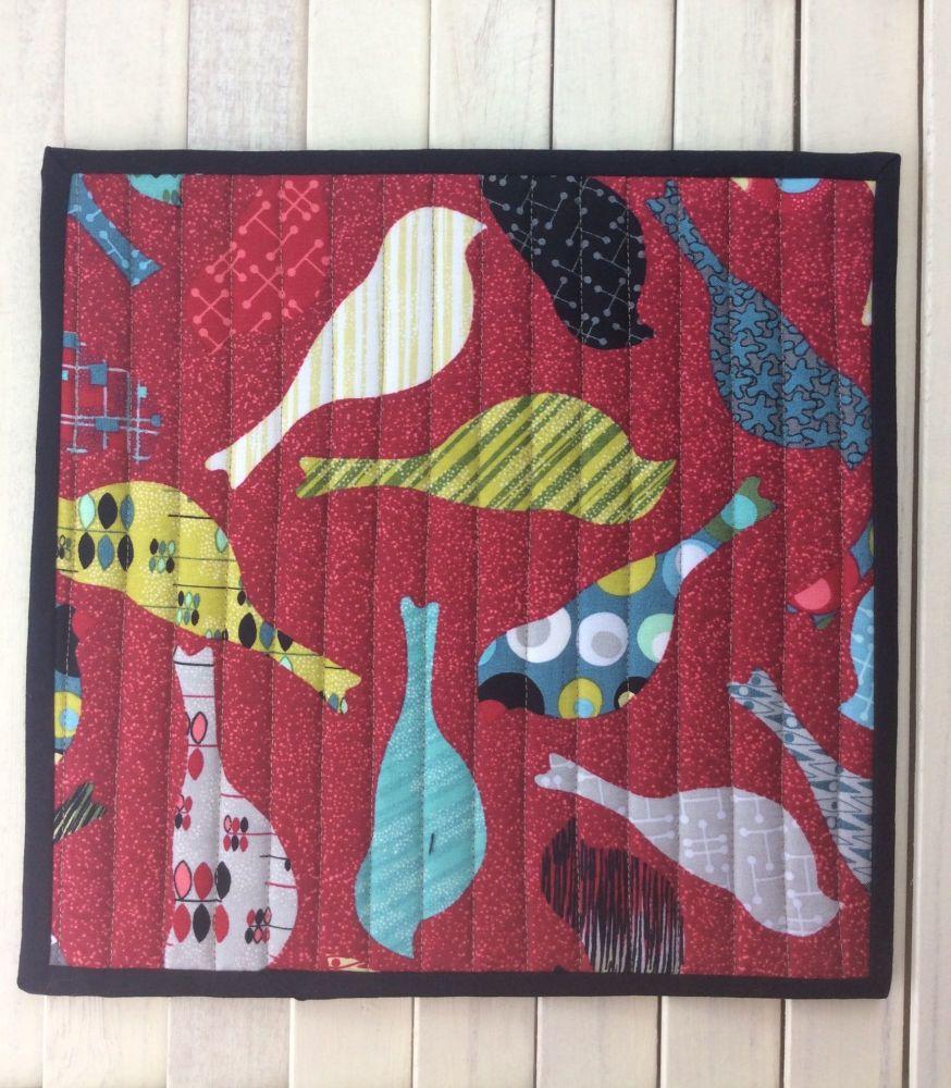 Mid Mod Bird Red Place Mat