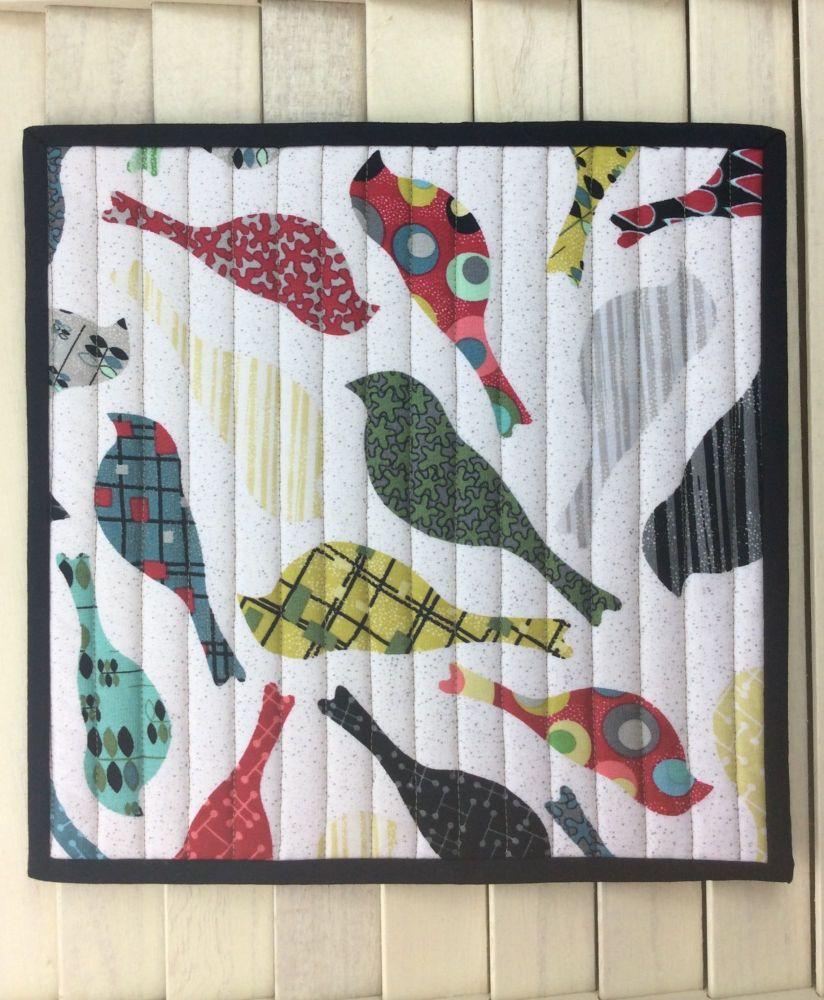 Mid Mod Bird Cream Place Mat