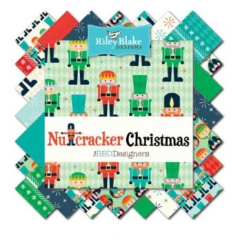 "Riley Blake - 10"" Stacker - Nutcracker Christmas"