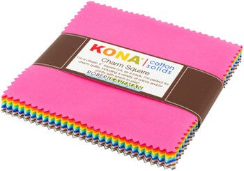 Robert Kaufman - Kona Cotton - 2017 New Colors Charm Square