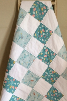 Woodland Animals Patchwork Baby Quilt