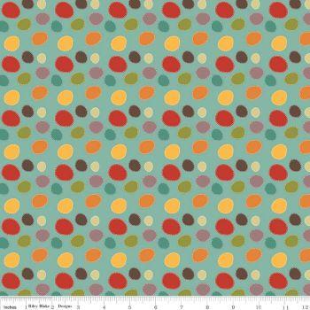 Riley Blake - Giraffe Crossing 2 Dots in Teal