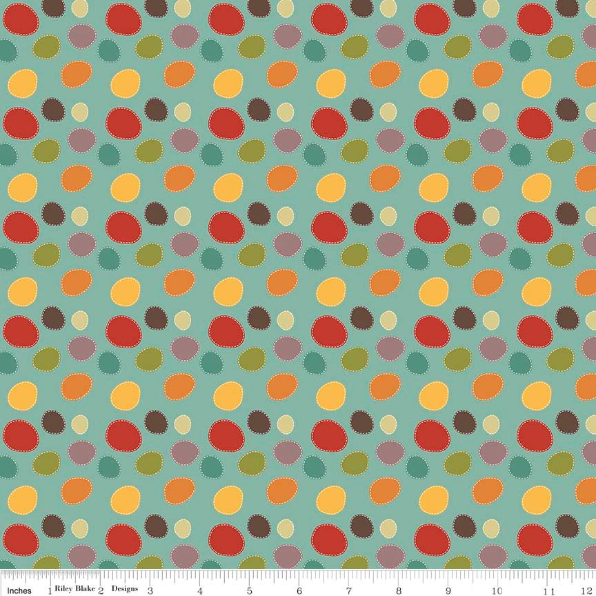 Riley Blake - Giraffe Crossing 2 Dots in Teal - Fabric on the Bolt