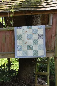 Farmyard Animals (Pigs and Hens) Baby Quilt