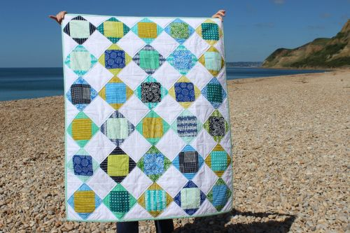 Blueberry Park Exploding Block Baby Quilt