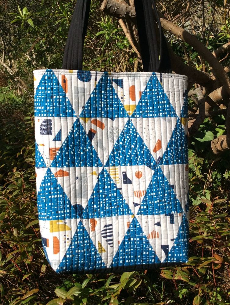 New Horizons Quilted Tote Bag