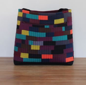 Itty Bitty Patchwork Quilted Tote Bag