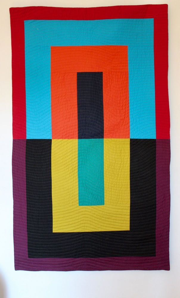 Colour Blocks Large Quilted Wall Hanging