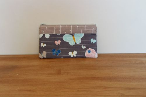 A Dorset Patchworks Bits and Bobs Quilted Pouch (Blue Butterfly)