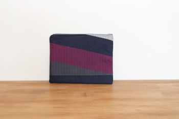 A Dorset Patchworks Bits and Bobs Quilted Pouch (Purple, Blue and Greys Abstract - Large)