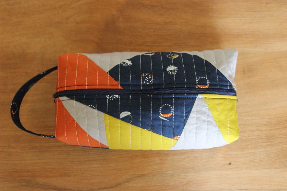 A Dorset Patchworks Bits and Bobs Quilted Box Pouch (New Horizons)