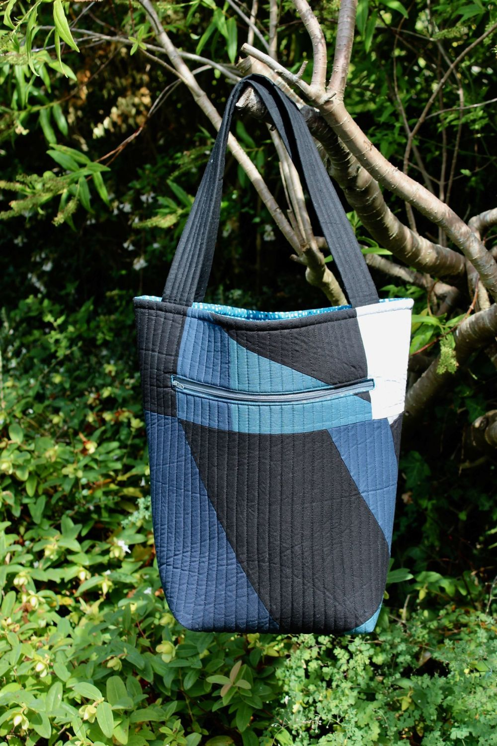 Blues  Quilted Tote Bag