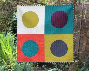 Modern Circles Baby Quilt/Play Mat/Wall Hanging(1)