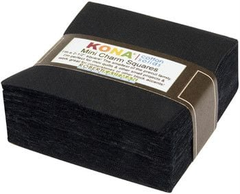 Kona® Cotton Mini Charm Squares - All Black