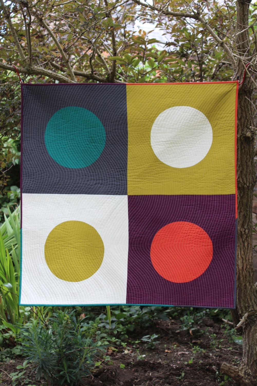 Dots And Curves Baby Quilt/Play Mat/Wall Hanging