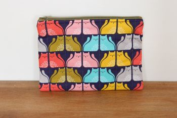 A Dorset Patchworks Bits and Bobs Quilted Pouch (Cool For Cats (C))
