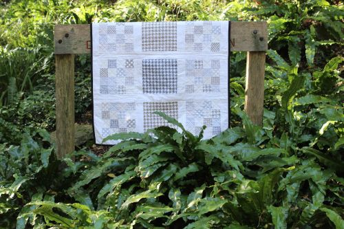 Patchwork Cot Quilt - Michael Miller - Modern Basics in Neutral