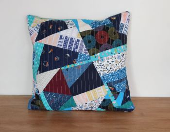 Blues Rules Quilted Cushion Cover