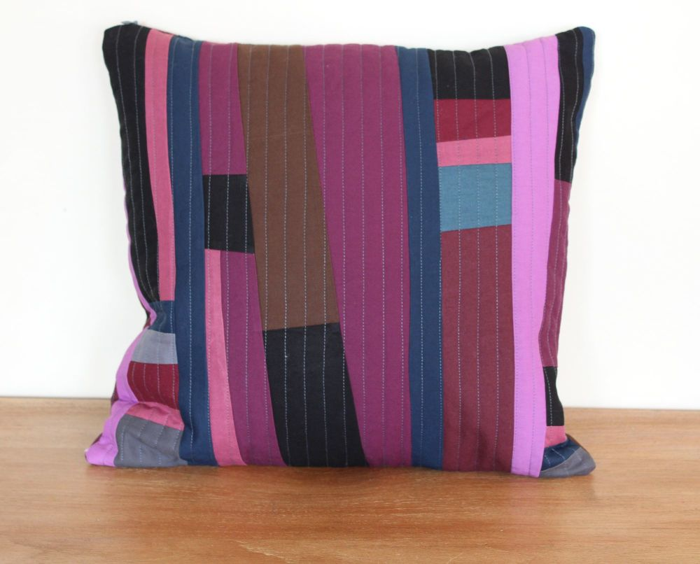 Purples Rules Quilted Cushion Cover