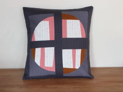 Abstract Orb Quilted Cushion Cover