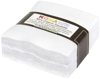 Kona® Cotton Mini Charm Squares - White