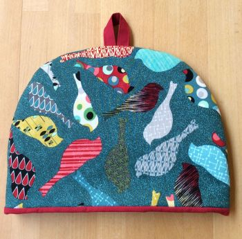 Birds In Teal Tea Cosy