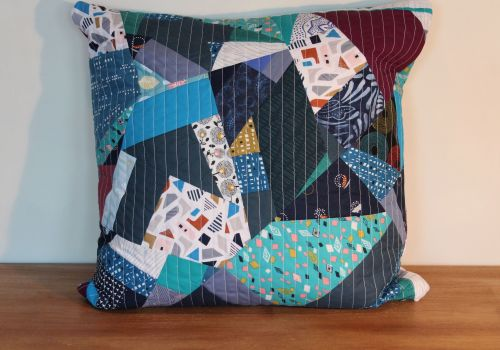 Blues Rules(2) Quilted Cushion Cover