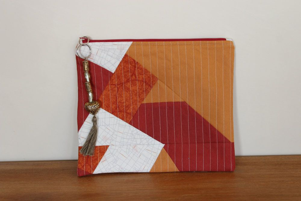 A Dorset Patchworks Bits and Bobs Quilted Pouch (Autumn)