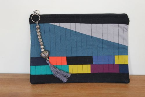 A Dorset Patchworks Bits and Bobs Quilted Pouch (Coloured Bricks)