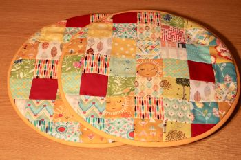 Pair of Patchwork Aga Pads