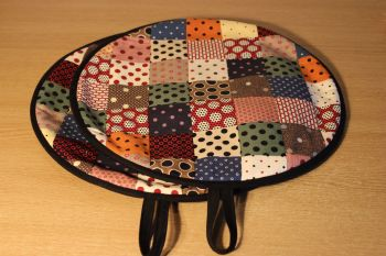 Pair of Patchwork Aga Pads (Scrappy Dots)
