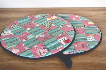 Pair of Patchwork Aga Pads (Kitchen Scales)