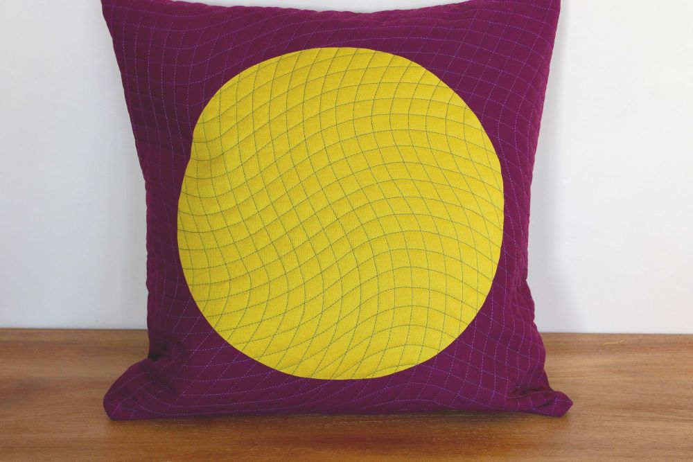 Circles Quilted Envelope Cushion(3)