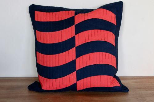 Curved Quilted Envelope Cushion